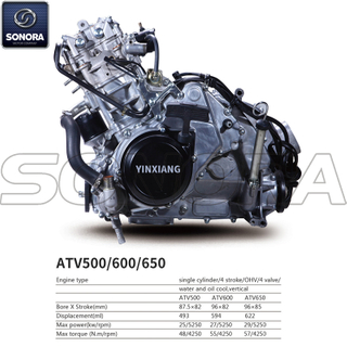 Yinxiang Engine ATV500 BODY KIT ENGINE PARTS COMPLETE SPARE PARTS ORIGINAL SPARE PARTS