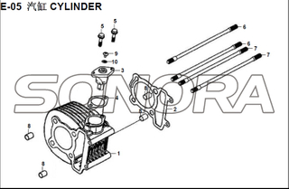 E-05 CYLINDER XS150T-8 CROX For SYM Spare Part Top Quality
