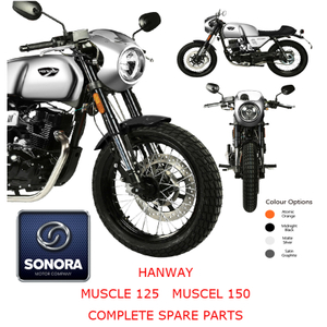 Hanway Muscel125 150 Complete Spare Part