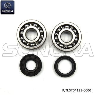 Minarelli AM6 Crank Sharf Bearing Set Incl.Oil Seal (P/N:ST04135-0000) Top Quality