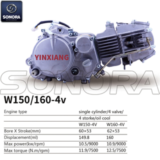Yinxiang Engine W150-4v BODY KIT ENGINE PARTS COMPLETE SPARE PARTS ORIGINAL SPARE PARTS